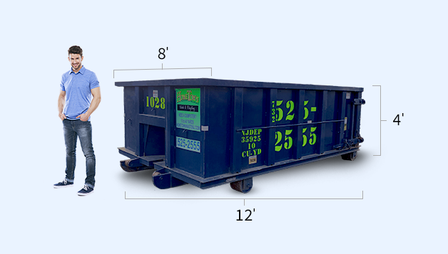 Nj Roll Off Container Rentals Dumpster Sizes Hometown Waste