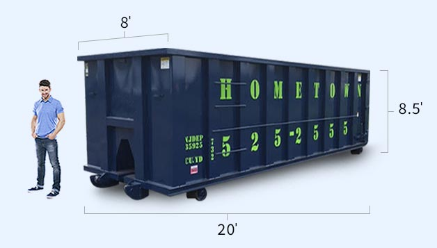 10 20 30 And 40 Yard Dumpster Roll Off Container