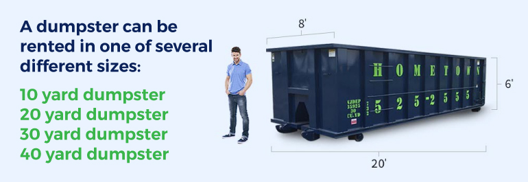 different dumpster sizes