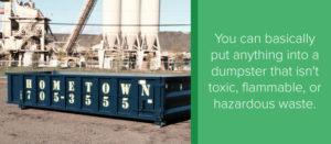 Waste Types in Dumspter