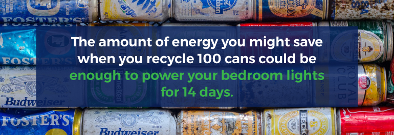 energy saved recycle