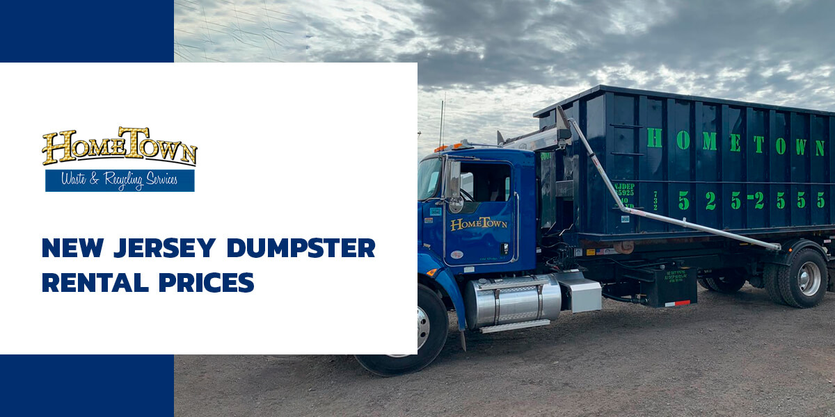 blue dumpster truck in new Jersey